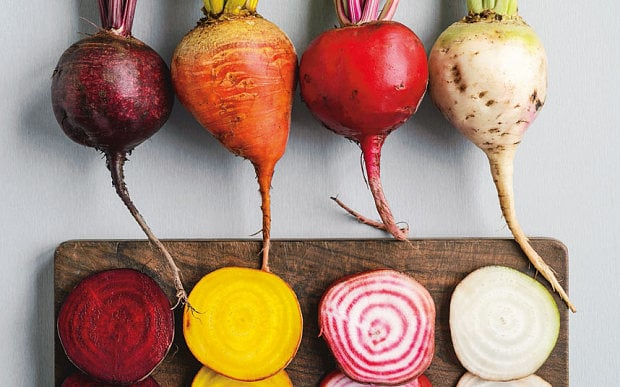 Roasted Radishes, Carrots and Beets